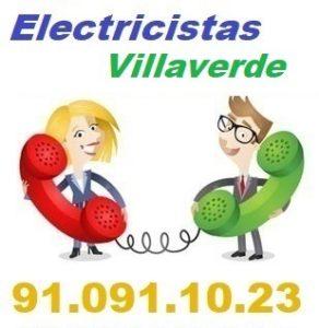 Telefono de la empresa electricistas Villaverde