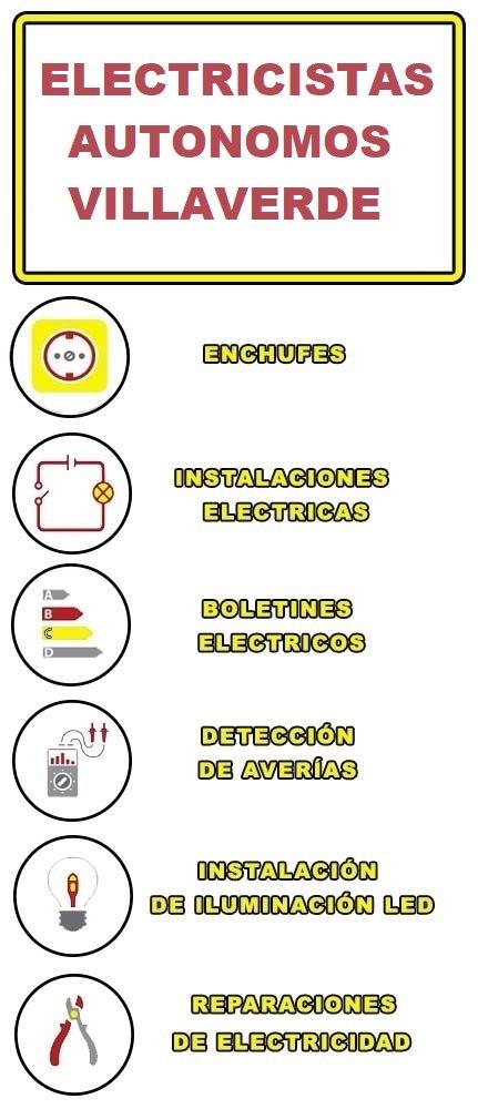 servicios de electricidad en Villaverde