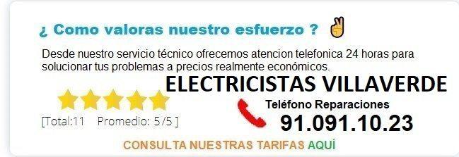 electricistas villaverde precios